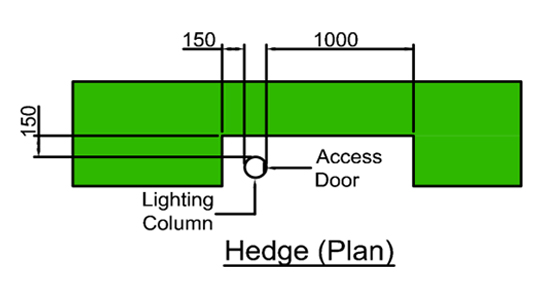 Specification for hedge trimming